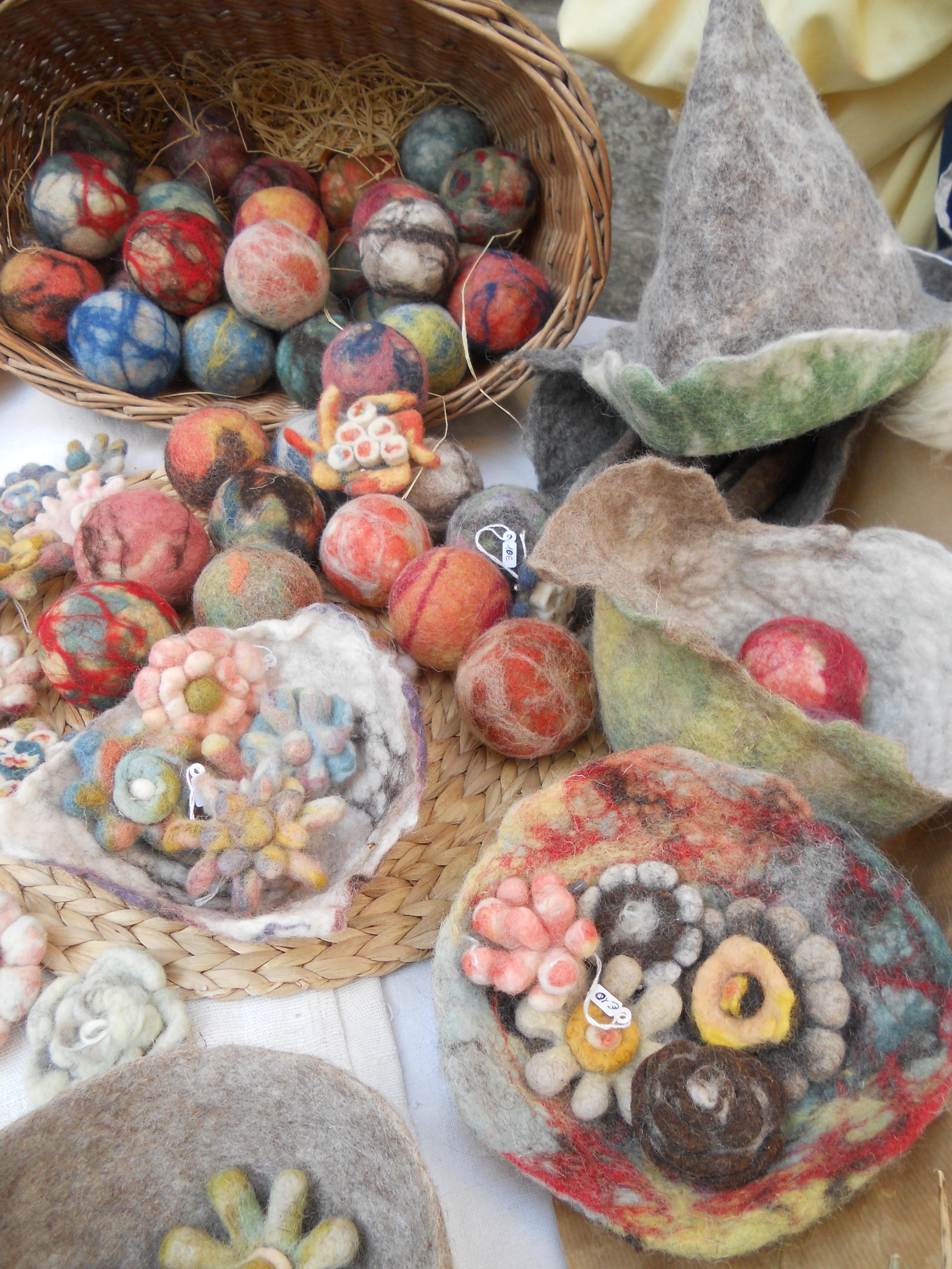 アレッサンドラによる羊毛フエルトの作品