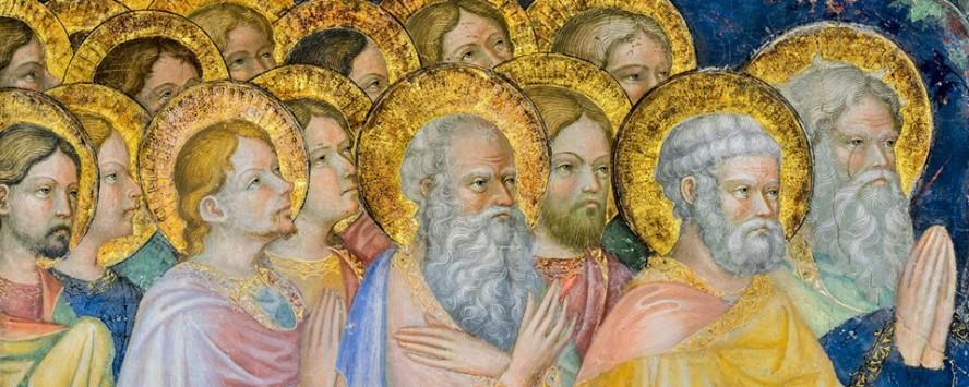 Urbino Oratorio San Giovanni particolare affreschi